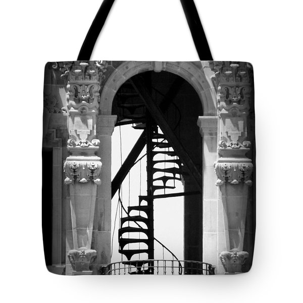 Stairway To Heaven Bw Tote Bag