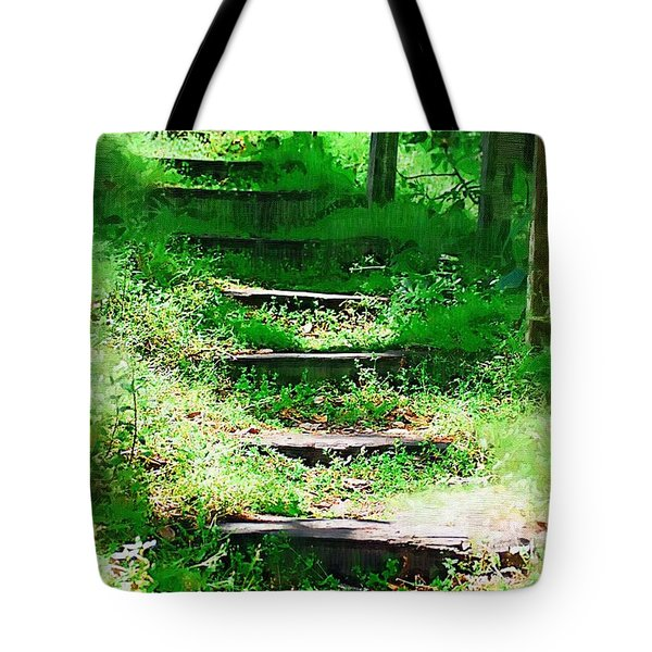 Tote Bag featuring the photograph Stairway To Heaven by Donna Bentley