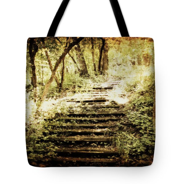 Stairway To Heaven Tote Bag by Julie Hamilton