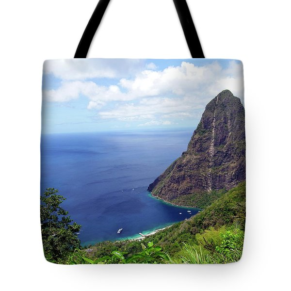 Tote Bag featuring the photograph Stairway To Heaven View, Pitons, St. Lucia by Kurt Van Wagner