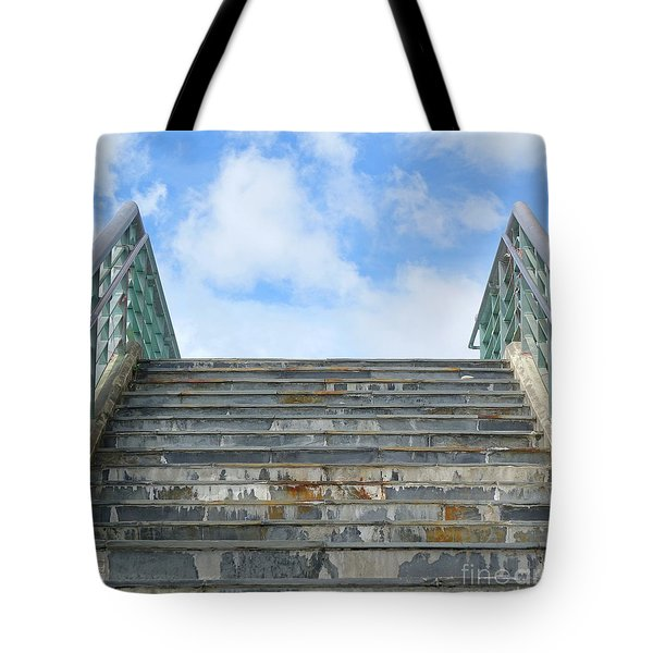 Tote Bag featuring the photograph Stairway To Heaven by Yali Shi