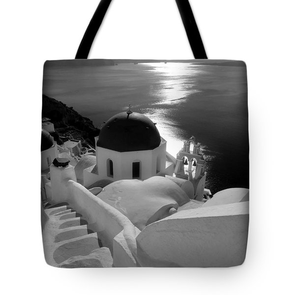Stairway To The Church Tote Bag