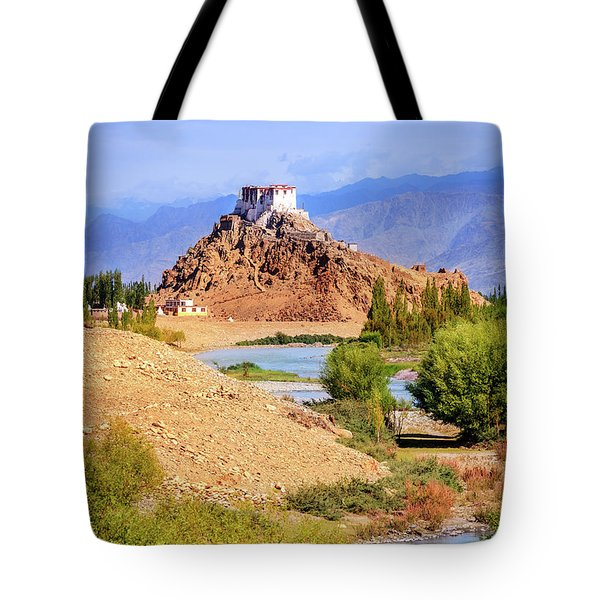 Tote Bag featuring the photograph Stakna Monastery by Alexey Stiop