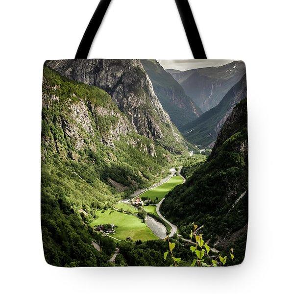 Tote Bag featuring the photograph Stalheim Valley by KG Thienemann