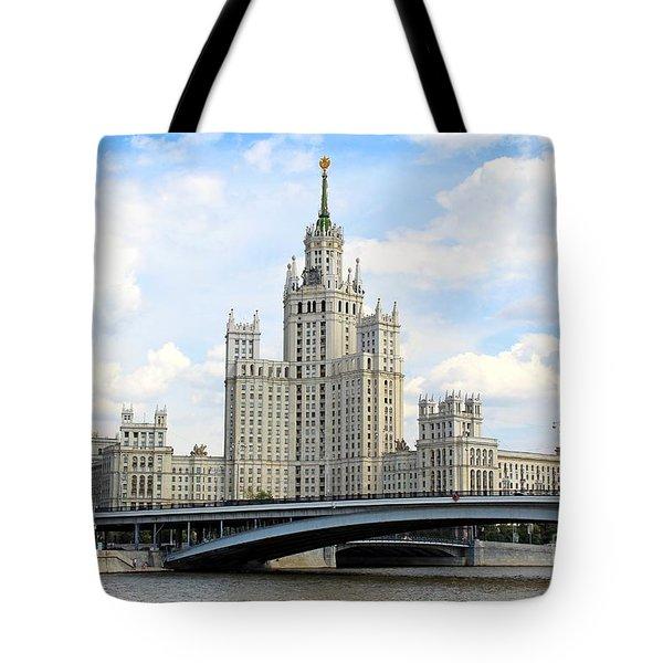 Kotelnicheskaya Embankment Building Tote Bag
