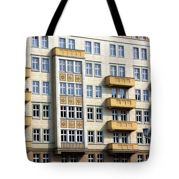Tote Bag featuring the photograph Stalinist Building by John Rizzuto