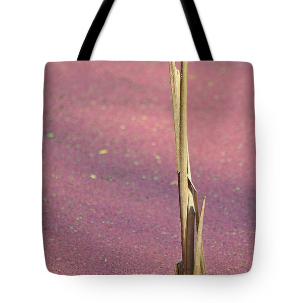 Stalking In A Pink Marsh Tote Bag
