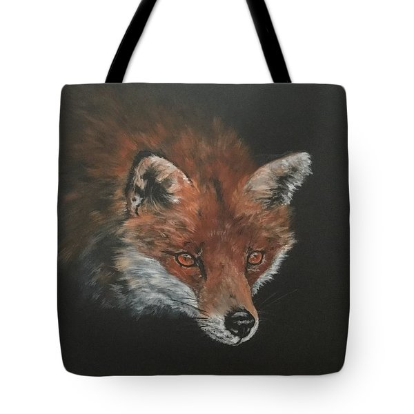 Red Fox In Stalking Mode Tote Bag