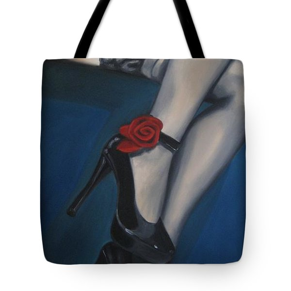Stalking Rose Tote Bag