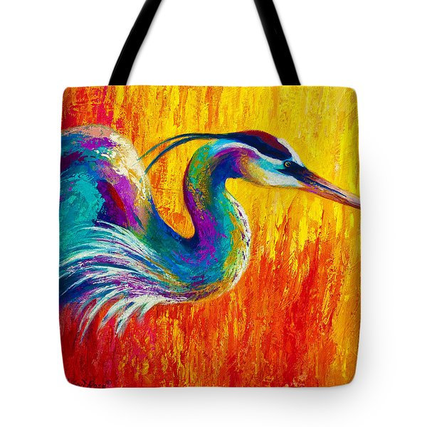 Stalking The Marsh - Great Blue Heron Tote Bag