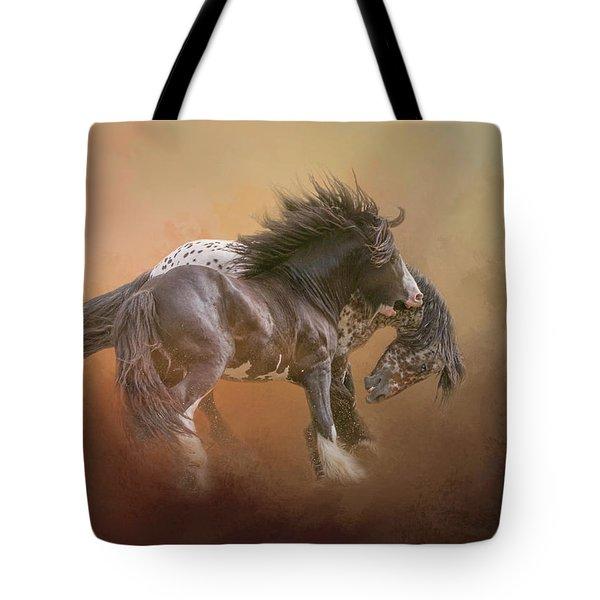 Stallion Play Tote Bag