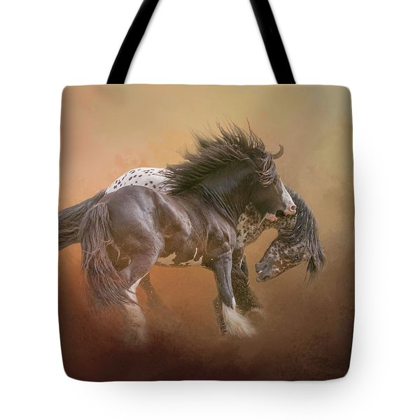 Stallion Play Tote Bag