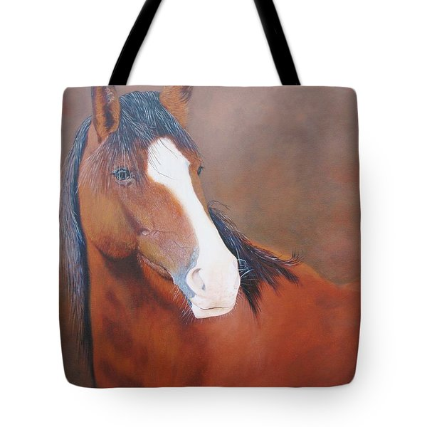 Stallion Portrait Tote Bag