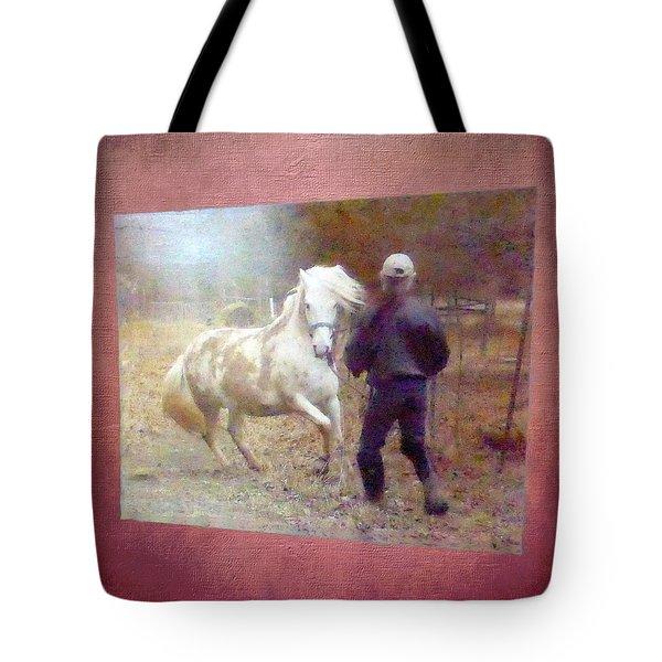 Stallion's Springtime Emotions Tote Bag