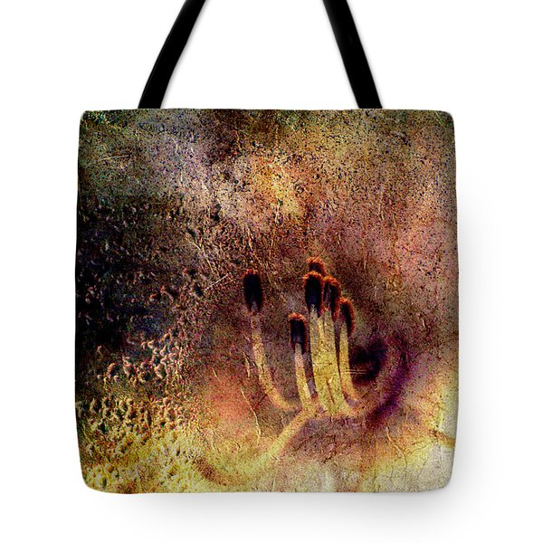 Tote Bag featuring the photograph Stamins Of A Daylily by Michele A Loftus