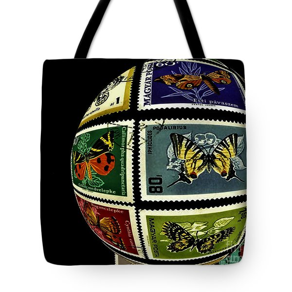 Stamp Collecting Around The World Tote Bag by Carol F Austin