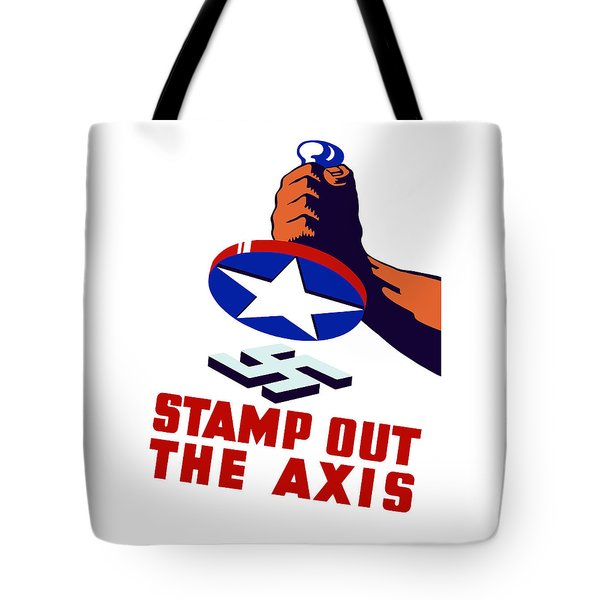 Stamp Out The Axis Tote Bag by War Is Hell Store