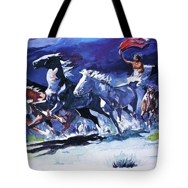 Stampede By Moonlight Tote Bag