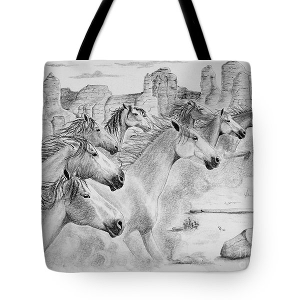 Stampede In Sedona Tote Bag