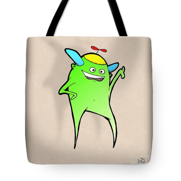 Tote Bag featuring the drawing Stan Dupp by Uncle J's Monsters
