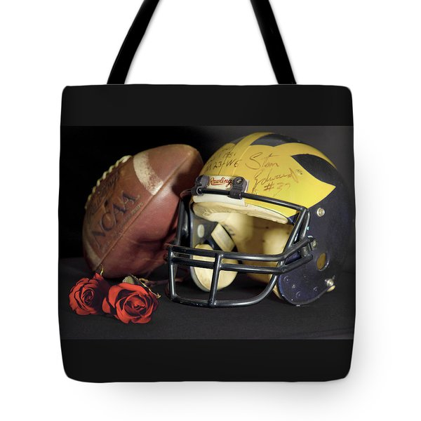 Stan Edwards's Autographed Helmet With Roses Tote Bag