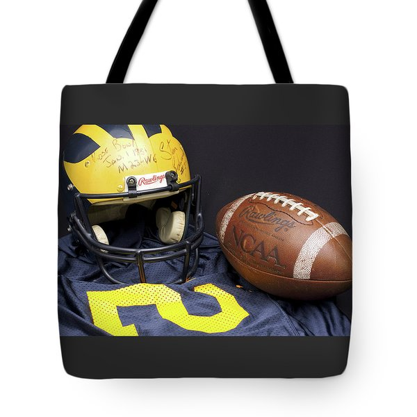 Stan Edwards's Autographed Wolverine Helmet Tote Bag