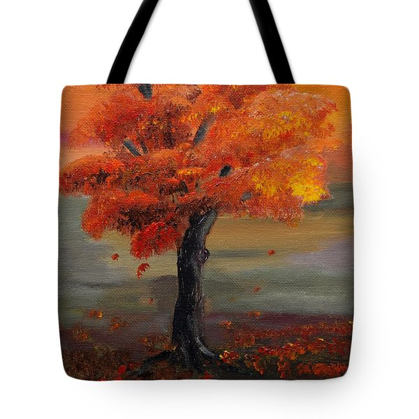 Stand Alone In Color - Autumn - Tree Tote Bag by Jan Dappen