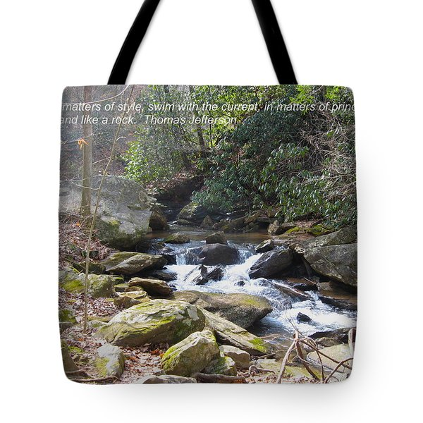 Stand Like A Rock Tote Bag
