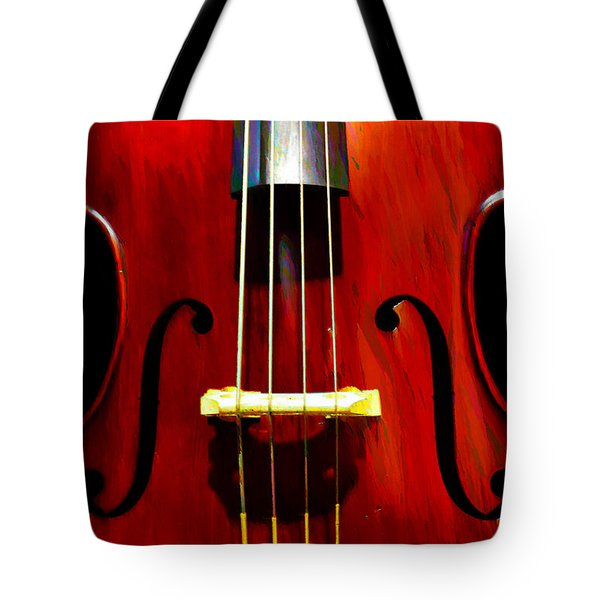 Stand Up Bass Tote Bag by Bill Cannon