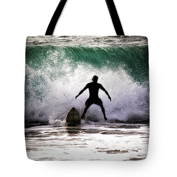 Tote Bag featuring the photograph Standby Surfer by Jim Albritton