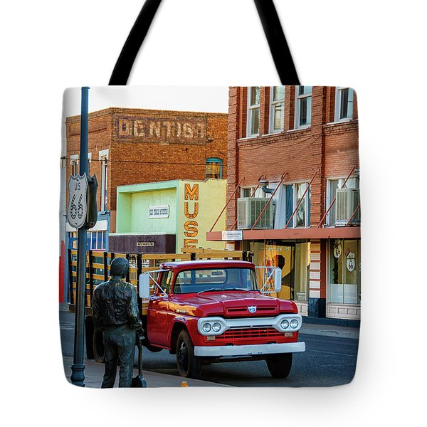 Standin On The Corner Park Tote Bag