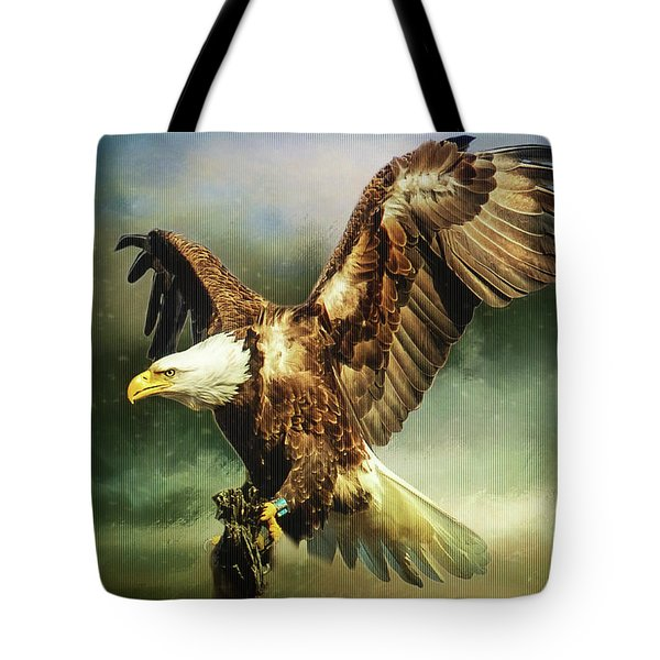 Standing Against The Storm Tote Bag