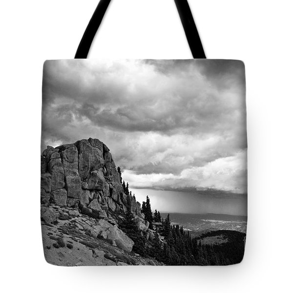 Standing Against The Storm Tote Bag by Scott Pellegrin