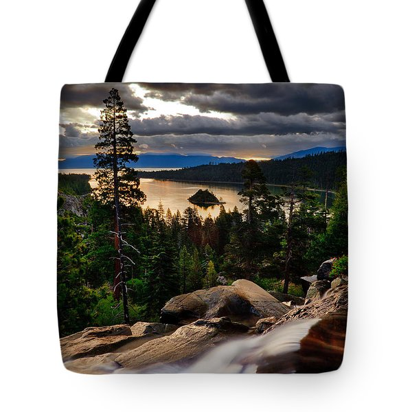 Standing At Eagle Falls Tote Bag