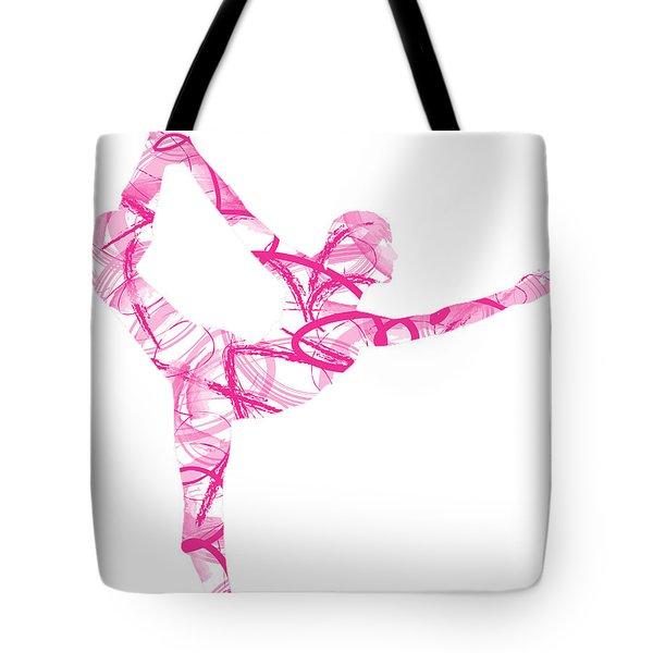 Yoga Pose Asana Standing Bow Pose Tote Bag