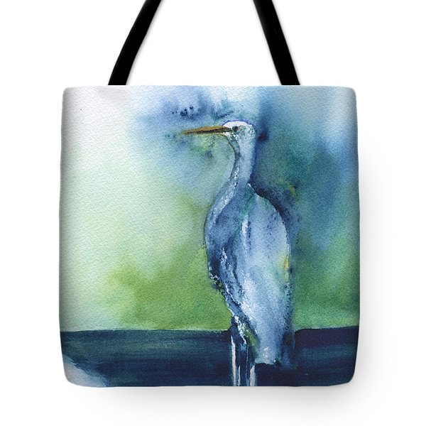 Standing Crane Tote Bag by Frank Bright