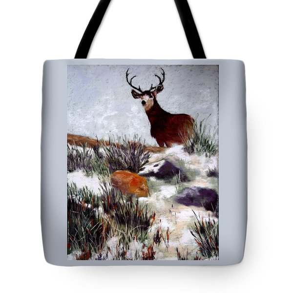 Tote Bag featuring the painting Standing Guard by Nancy Jolley