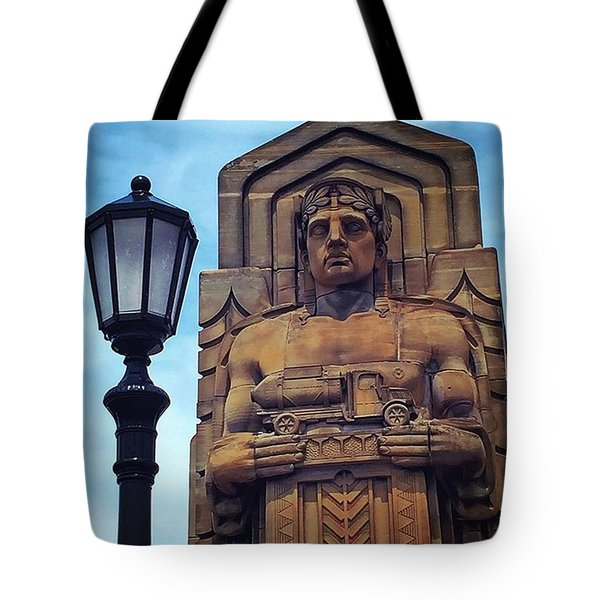 Standing Guard Over The Lorain-carnegie Tote Bag