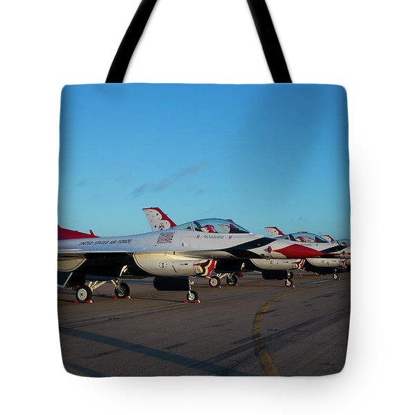 Standing In Formation Tote Bag
