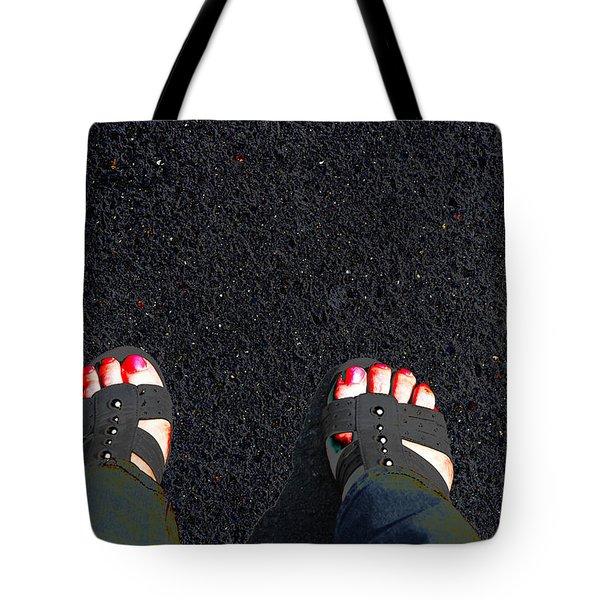 Standing In Space Tote Bag by Karol Livote