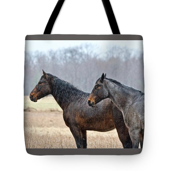 Tote Bag featuring the photograph Standing In The Rain 1281 by Michael Peychich
