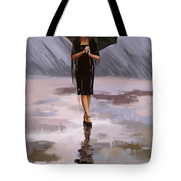 Standing-in-the-rain Tote Bag