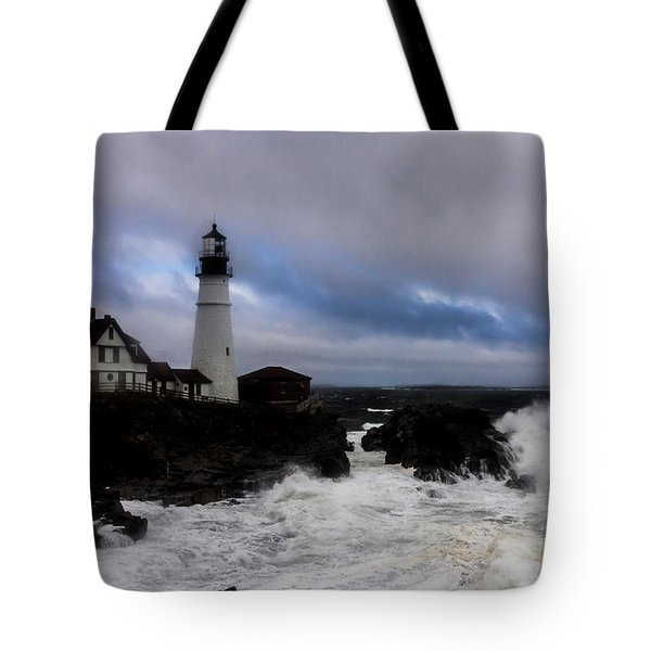 Standing In The Storm Tote Bag