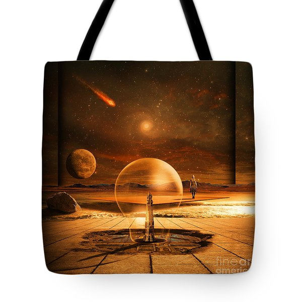 Standing In Time Tote Bag