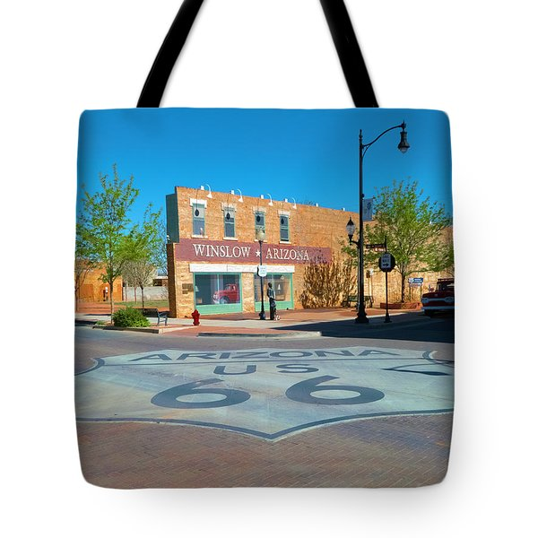 Standing On A Corner Tote Bag by Charles Ables
