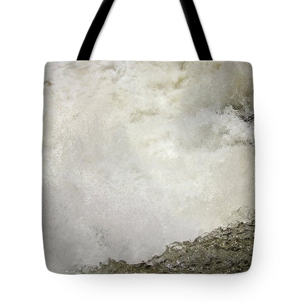 Standing On A Waterfall Tote Bag