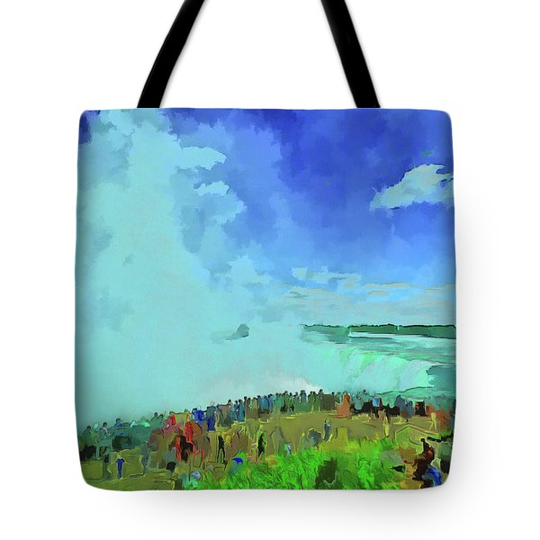 Standing On The Brink Tote Bag