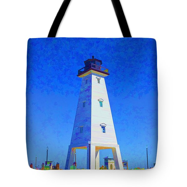 Standing Proud Lighthouse Tote Bag