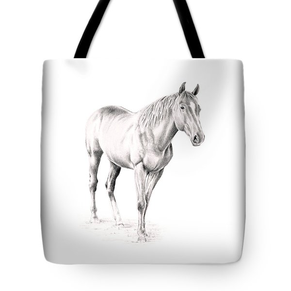 Standing Racehorse Tote Bag