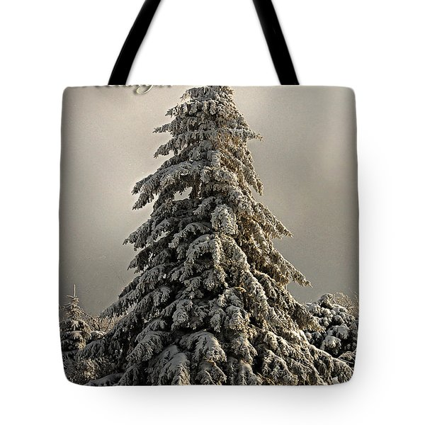 Standing Tall Christmas Card Tote Bag by Lois Bryan